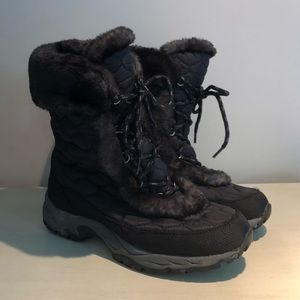 L.L. Bean Winter Boots Black Quilted Women's 11
